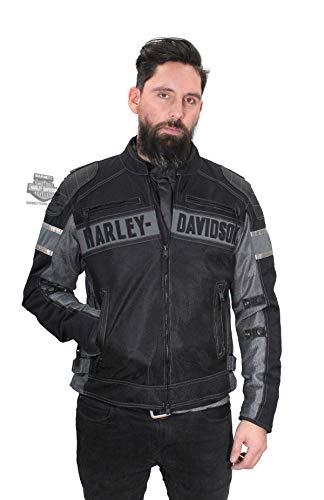 HARLEY-DAVIDSON Mens Mecca Textile Mesh Reflective Functional Jacket 98295-17VM 3X Black