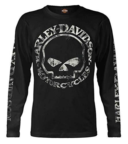 Harley-Davidson Mens Shirt Hand Made Willie G Skull Long Sleeve 30294032 5XL Black