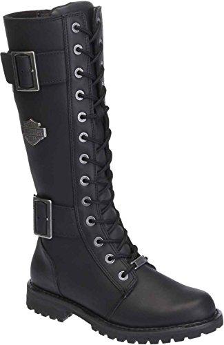 Harley-Davidson Womens Belhaven Knee-High Motorcycle Boots D87082 Black 11
