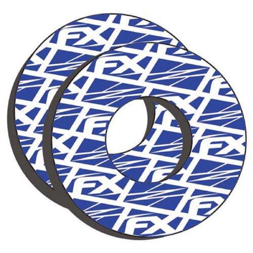 Fx Blue Logo Handlebar Grip Donuts and Keepitroostin Sticker Donuts and Fits Kawasaki Kx80 Kx85 Kx100 Kx125 Kx250 Kx500 Kx250f Kx450 Kx450f Kdx200 Kdx220 Klx250 Klx300 1980-2014