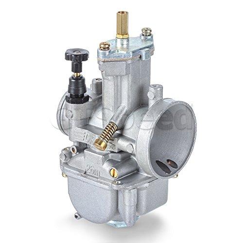 MIT Motors - OKO PWK 26mm Flat Slide Carburetor Kit - Universal 24 Stroke Cycle 80cc 100cc 125cc 250cc 350cc - Kawasaki KX80 KX100 KX125 - BSA