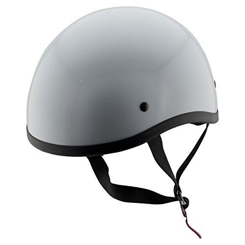 FH Helmets FH-36 Glossy White Half Skull Helmet - X-Small