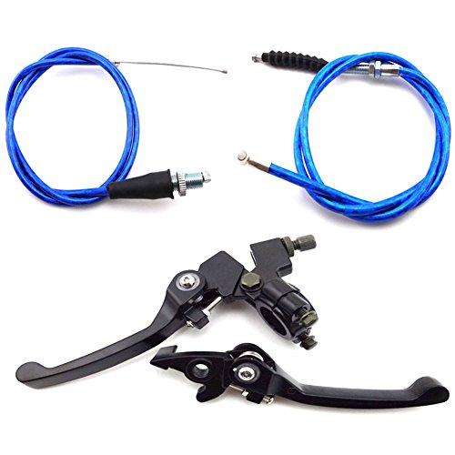 TC-Motor Alloy Folding Brake Handle Lever Blue Clutch Throttle Cable For Chinese Pit Dirt Bike TTR XR50 CRF50 Thumpstar SSR 50cc 70cc 90cc 110cc 125cc 140cc 150cc 160cc