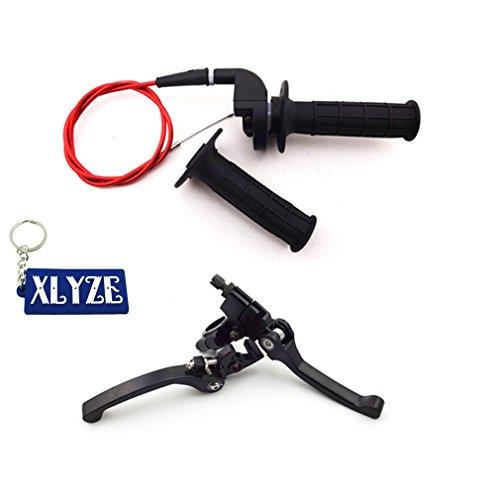XLYZE Aluminum Folding Brake Clutch Lever Twist Throttle Handle Grips Cable for Honda CRF50 125cc SSR Lifan Chinese 50cc 70cc 90cc 110cc 125cc 140cc 150cc 160cc Pit Dirt Bike