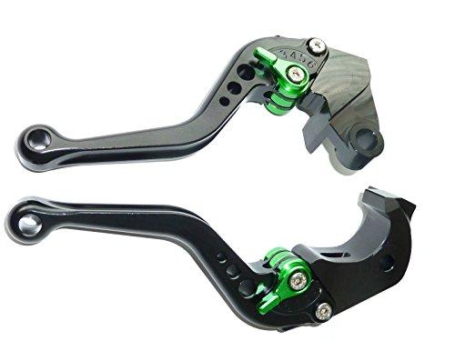LUO CNC Short Brake Clutch Levers for Kawasaki ZX6R636 2007-2016Z750R 2011-2012Z1000 2007-2016Z1000SXNINJA 1000Tourer 2011-2016ZX10R 2006-2015-Black
