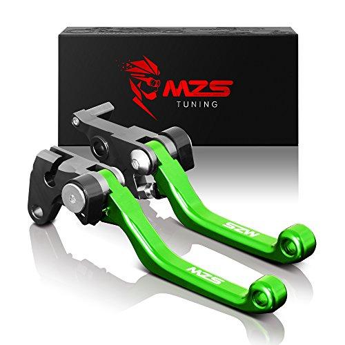 MZS CNC Pivot Brake Clutch Levers for Kawasaki KX65 2000-2018KX85 2001-2018KX100 2001-2017KX125 2000-2005KX250 2000-2004KX250F 2004 Green
