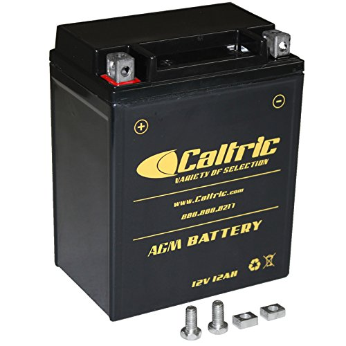 CALTRIC AGM BATTERY Fits POLARIS SPORTSMAN 400L 1997  SPORTSMAN 450 2007