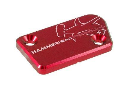 Front Brake Master Cylinder Cap - Hammerhead Designs - RED - Yamaha YZ250F YZ450 YZ125250