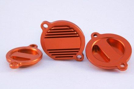 Oil Fitter Cover - Hammerhead Designs - ORANGE - KTM 250EXC-F 250SX-F 250XC-FXCF-W 350SX-F 350XC-F 350EXC-F 350XCF-W 400XC-W 450EXC 450SMR 450SX-F 450XC-F 450XC-W 530EXC 530XC-W