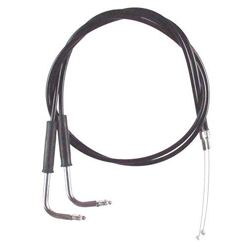 Black Vinyl Coated Throttle Cable Set for 2007-2010 Harley-Davidson Softail Custom models - HC-0332-0140-FXSTCI