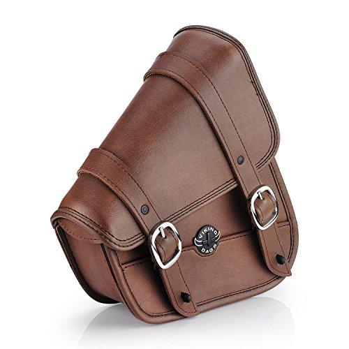 Viking Bags Sportster Brown Motorcycle Swing Arm Bag