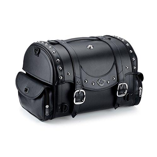 Viking Century Studded Leather Motorcycle Sissy Bar Bag