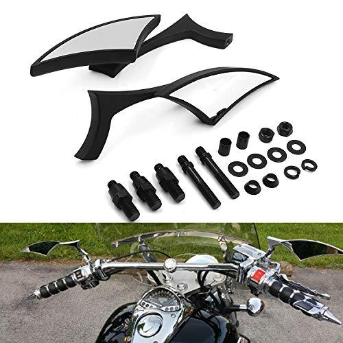 HTTMT MT346-BK Black Blade Mini Mirror Compatible with Honda Rebel Shadow 600 750 Vtx 1300 1800 Spirit 1100
