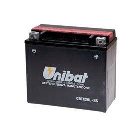 Unibat Maintenance-Free Battery with Acid CBTX20L-BS for Harley-Davidson Dyna Wide Glide FXDWGI 2010-2016