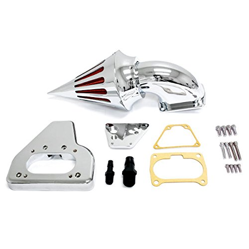 Krator 2002-2009 Honda VTX 1800 Cruiser High Quality Chrome Billet Aluminum Cone Spike Air Cleaner Kit Intake Filter Motorcycle