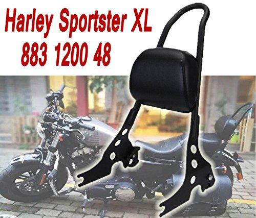 E-Most Motorcycle Scrub Sissy Bar Adjustable Detachable Solid Steel Rear Passenger Backrest For Harley Sportster XL 883 1200 48