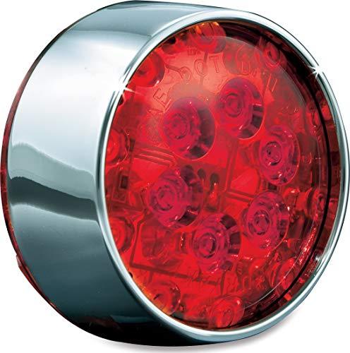 Kuryakyn 5430 Motorcycle Lighting Bullet Style Panacea Rear Turn SignalBlinker LED Light Inserts for 2002-13 Harley-Davidson Motorcycles Chrome Red Lens 1 Pair