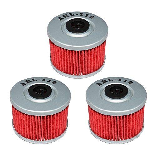 AHL 112 Oil Filter for Kawasaki KLX250SF KLX250 SF 250 2009-2010 Pack of 3