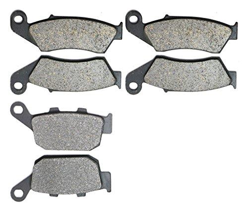 CNBK Motorcycle Semi Metallic Brake Pads Set for HONDA Street Bike XL650 XL 650 cc 650cc VY V1 Transalp 00 01 02 03 04 05 06 07 2000 2001 2002 2003 2004 2005 2006 2007 6 Pads