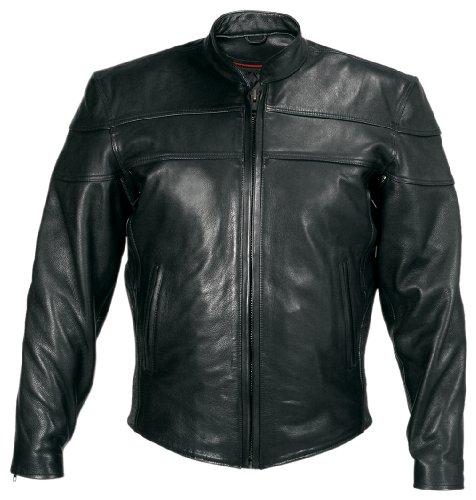 Milwaukee Motorcycle Clothing Company Motorcycle Maverick Jacket Black Large