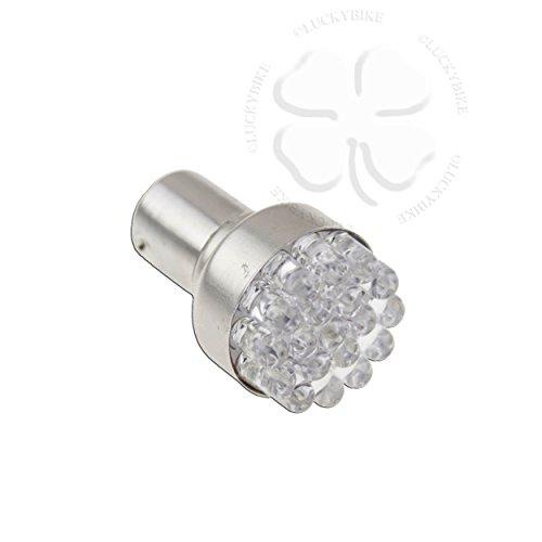 Amber LED 1156 BA15S 15mm Base Bulb Turn Signal Motorcycle Car Truck Lighting - 19 Leds