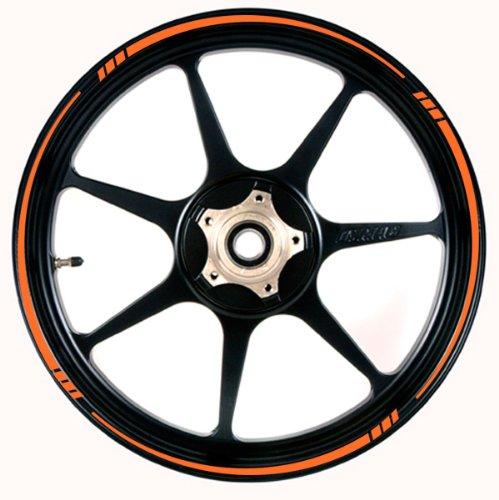 ORANGE Wheel Rim Tape SPEED TAPERED Stripe fit ALL Makes of Motorcycles Cars Trucks