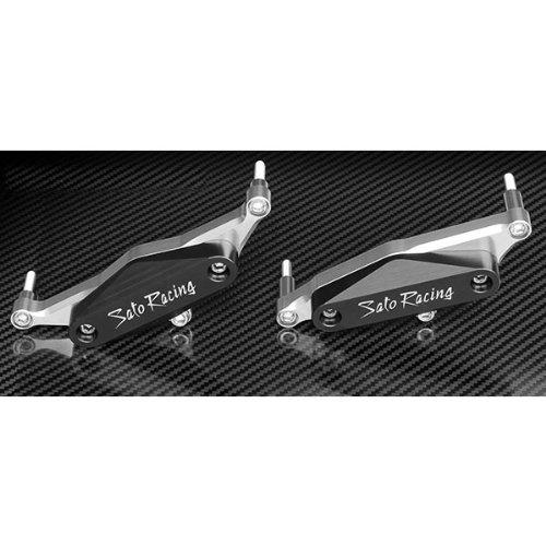 Sato Racing Engine Sliders Abrasion Resistant Delrin for Yamaha 09 VMax 1700 Y-VMAX09ES-BK