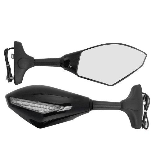 Black LED Turn Signal Light Side Mirror for Honda CBR 250 1000RR RC51 NSR VFR 2x