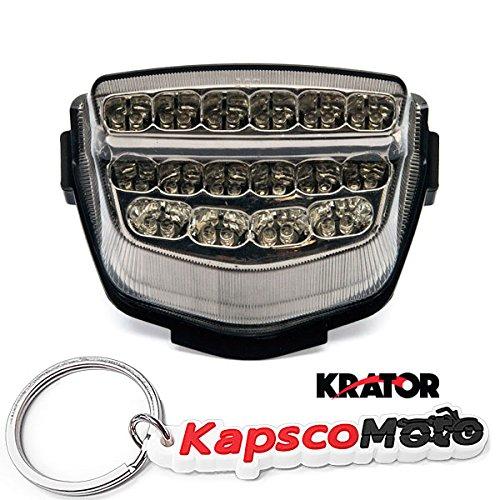 Krator 2008-2012 Honda CBR 1000RR LED TailLights Brake Tail Lights with Integrated Turn Signals Indicators Smoke Motorcycle  KapscoMoto Keychain