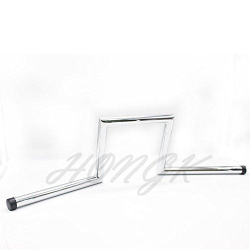 HongK- 8 Rise 4 Pullback Ape-Hanger Z-Bars 1 Handlebars For XL Sportster Dyna Bobber