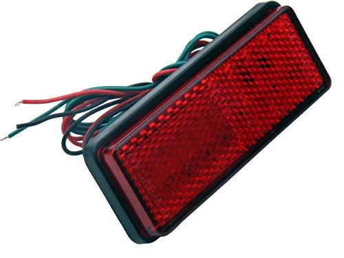 1 PC Red Retangle Reflector LED Rear Tail Brake Stop Lights for 2004 Honda Goldwing 1800 GL1800
