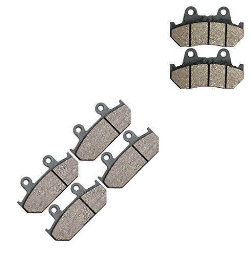 CNBK Semi Met Brake Pads Set fit HONDA Street Bike GL1500 GL 1500 cc 1500cc Goldwing 88 89 90 91 92 93 94 95 96 97 98 99 00 1988 1989 1990 1991 1992 1993 1994 1995 1996 1997 1998 1999 2000 6 Pads