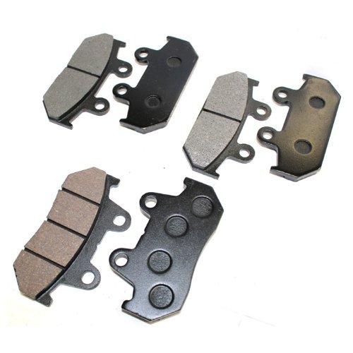 Caltric FRONT REAR BRAKE Pads Fits HONDA GL1500 GL 1500 GL1500SE GL 1500SE INTERSTATE ASPENCADE 1988-2000