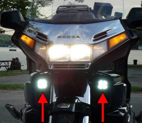 Honda Gold Wing Goldwing GL1500 LED Driving Lights Fog Lamps Drivinglights Foglights Foglamps Kit