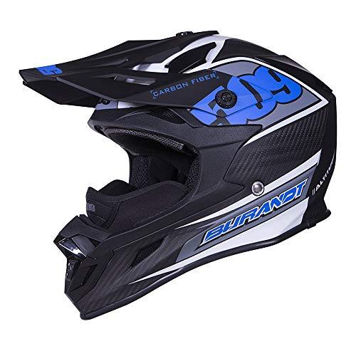 509 Altitude Carbon Fiber Chris Burandt Snowmobile Helmet - Open Face - Lightweight Large