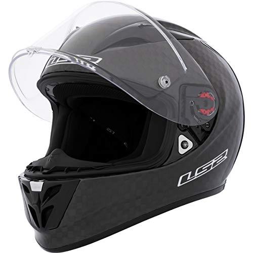 LS2 Arrow Carbon Full Face Motorcycle Helmet Black Large