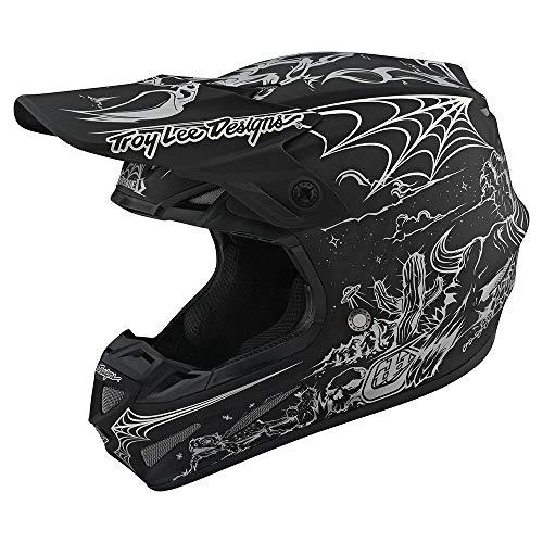 Limited Edition Troy Lee Designs Adult  Offroad  Motocross  SE4 Stranded Carbon Helmet XX-Large Black