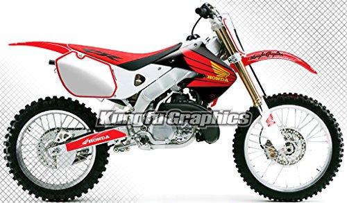 Kungfu Graphics Honda Wing Custom Decal Kit for Honda CR125 CR250 1997 1998 1999 Red White