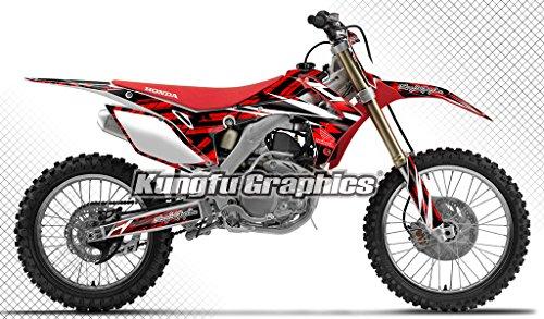 Kungfu Graphics Honda Wing Custom Decal Kit for Honda CRF250R 2014 2015 2016 2017 Red White Black