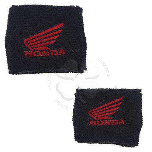 Reservoir Sock - Honda Wing - Set -1x Large 1x Small - Black - Red