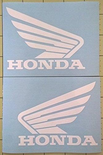 Set of 2 Honda Wing Tank Decals Gloss White