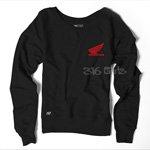 Womens Team Honda Wing Crew Sportbike Sweatshirt Size Lg