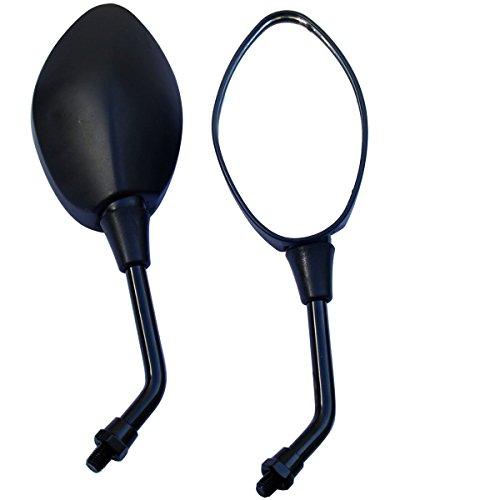 MotorToGo Black Oval Rear View Mirrors for 2006 Suzuki Boulevard M50 Black