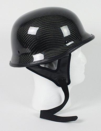 Carbon Fiber German Motorcycle Helmet DOT Large