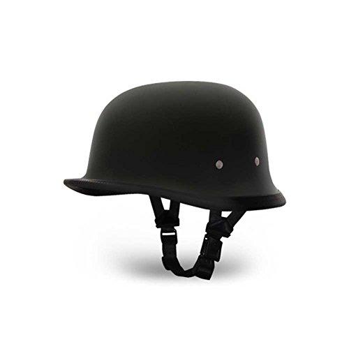Daytona German BasicCustom Novelty Cruiser Motorcycle Helmet - Dull Black  2X-Large