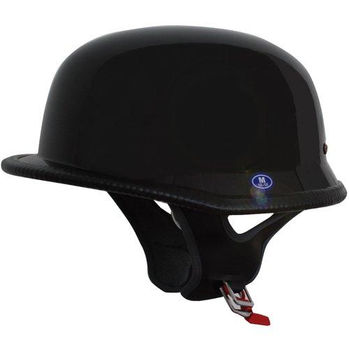 German Motorcycle Half Helmet Low Profile Black XL