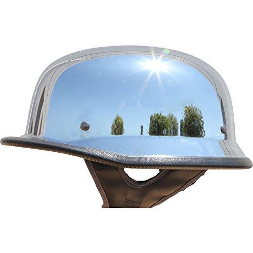 German Motorcycle Half Helmet Low Profile Chrome XL