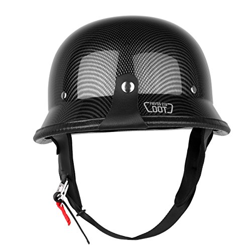PanelTech Motorcycle Motorbike German Carbon Fiber Cruiser Sport Half Face Helmet L