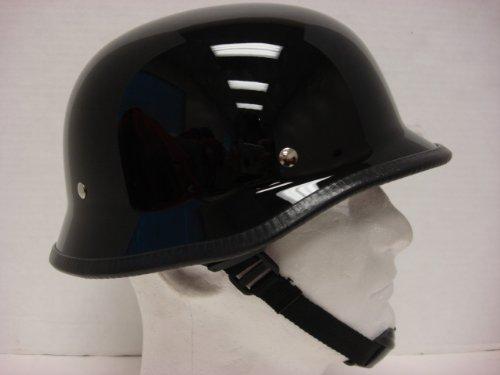 Size L Motorcycle Biker Cruiser Novelty Gloss black German Helmet Softail Touring