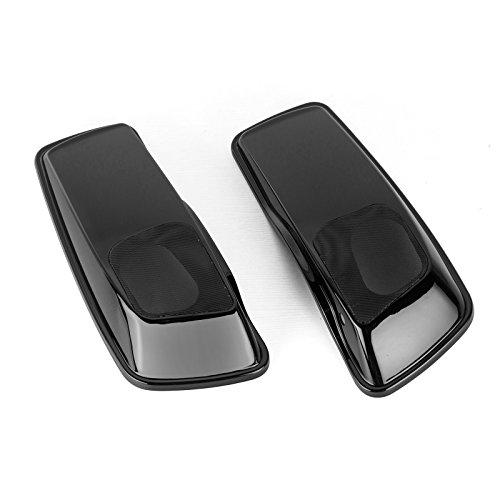 TJMOTO Unpainted Black Dual 6x9 Speaker Lids w Grills For 2014-2017 Harley Saddlebag Touring Road King Street Glide Road Glide Electra Glide